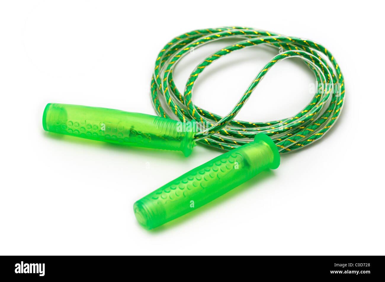 Springseil, grün Stockbild