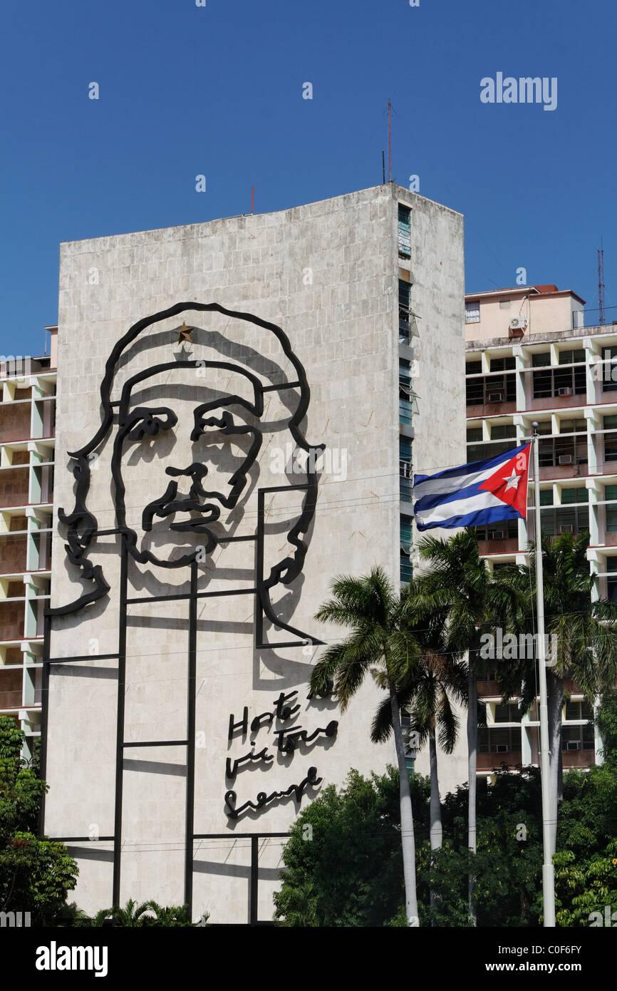 Placa De La Revolucion Square, Che Guevara, Havanna, Kuba, Caribbean Stockfoto