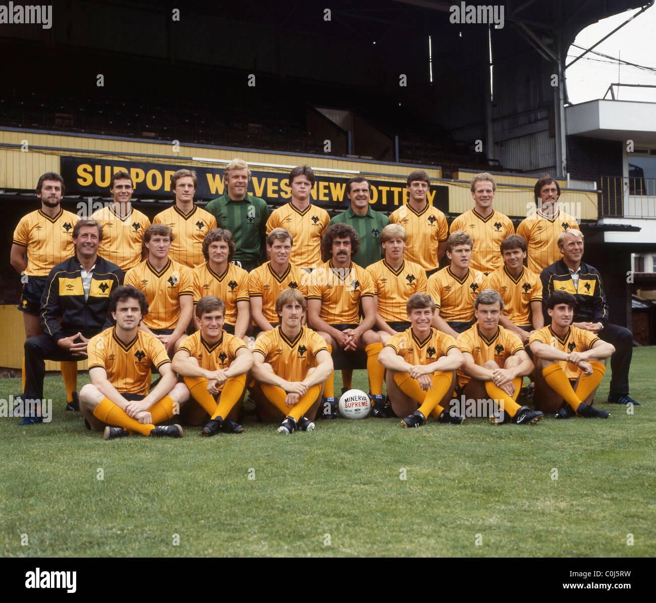 Wolverhampton Wanderers-Fußballmannschaft 1983 / 1984-Saison Stockbild