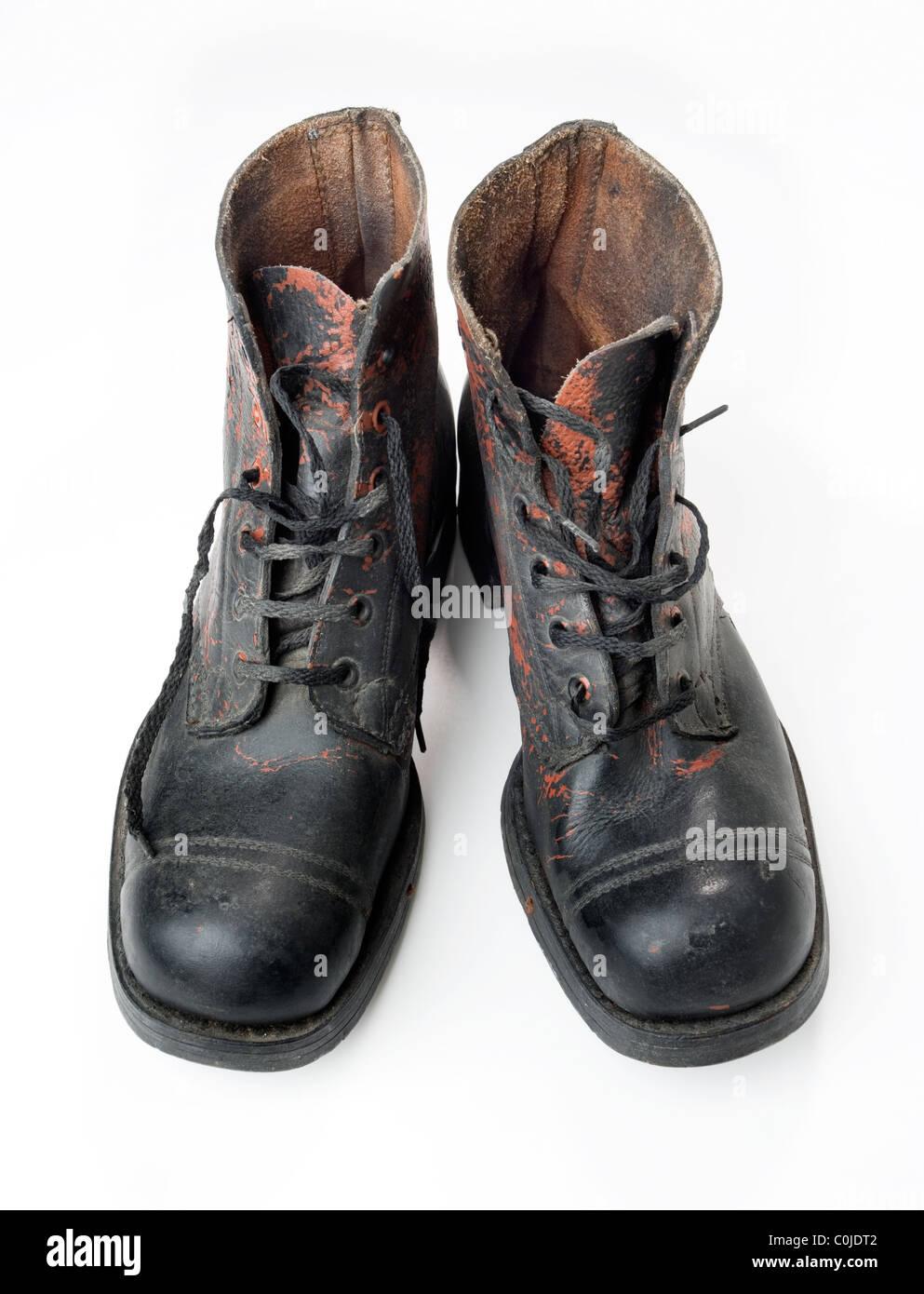 518739a56ce4a8 Genagelte Stiefel Stockfotos   Genagelte Stiefel Bilder - Alamy