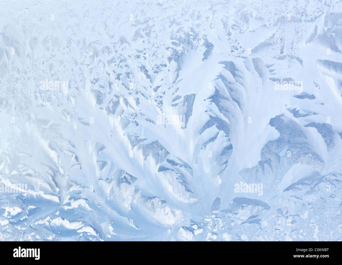 Gefrorene Glastextur oder Hintergrund. Stockbild