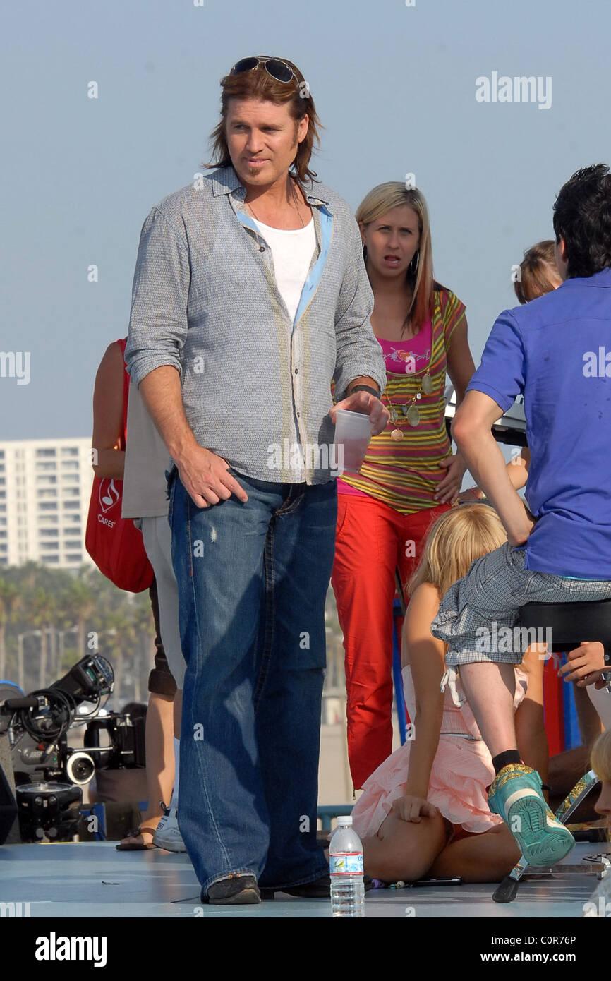 Cyrus Am Film Set Hannah Montana The Movie Los Angeles