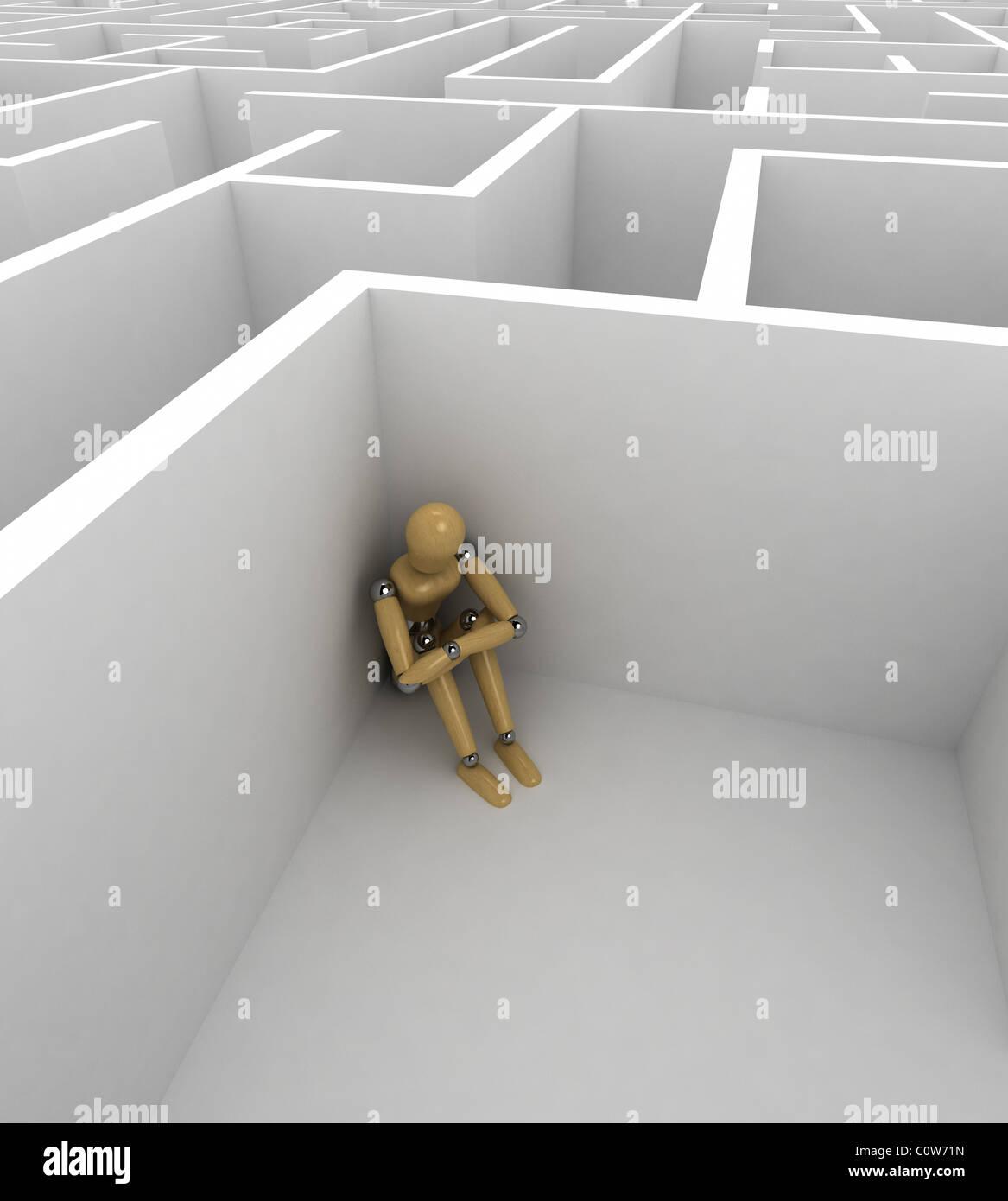 Depression Stockbild