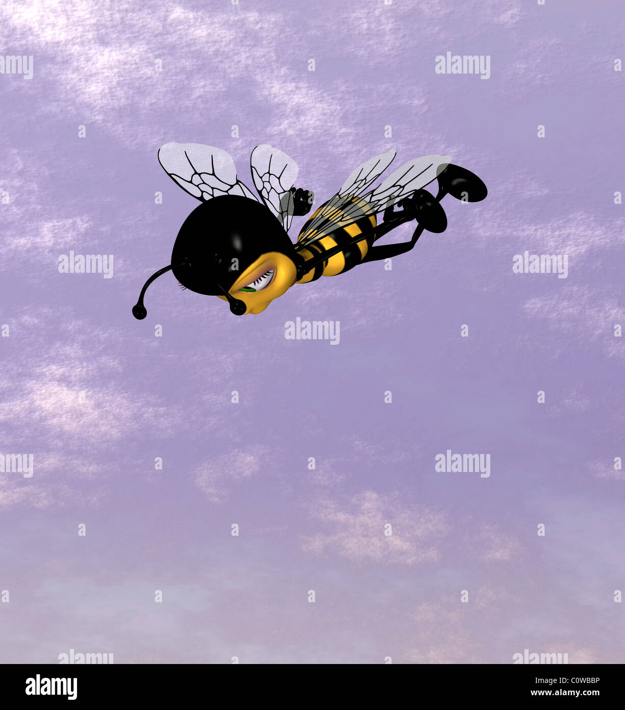 Biene-Abbildung Stockbild