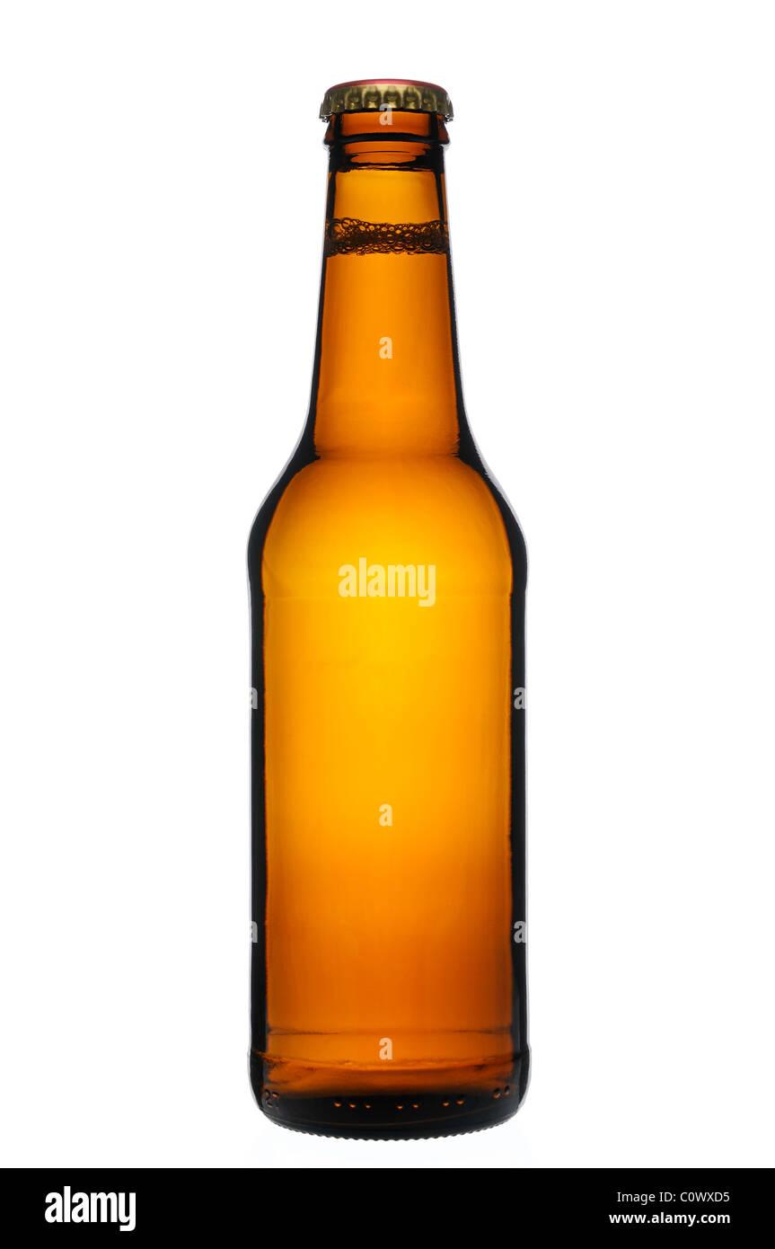 Bierflasche, ausschneiden. Stockbild