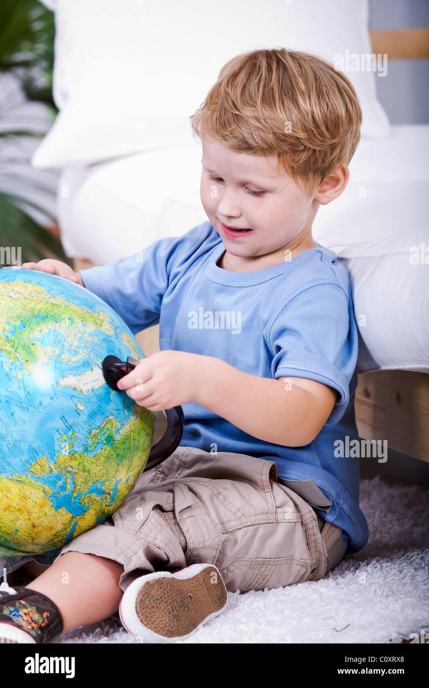 Lernen über die Erde Stockbild