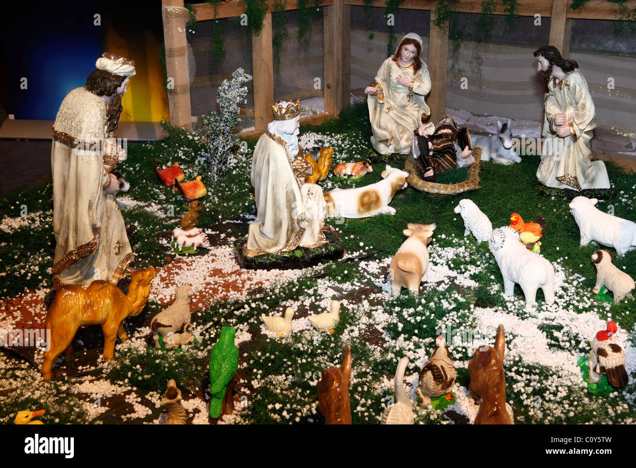 Weihnachten Krippe Szene (sogenannte Nacimiento, Pesebre, Portal ...