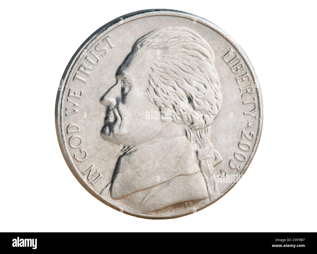 2010 Us Nickel Münze Der Nennwert Von 5 Cent Ist Jetzt Kleiner Als