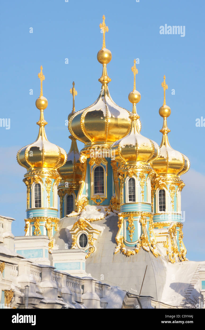 Katharinenpalast, Zarskoje Selo, Puschkin, Sankt Petersburg, Russland Stockfoto