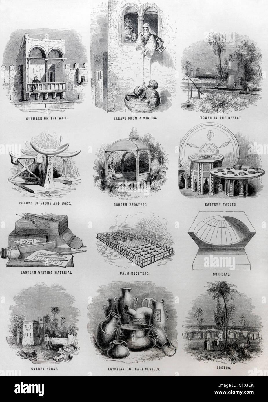 Bibel-Illustrationen der jüdischen Altertümer Stockbild