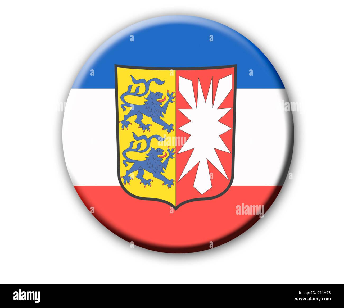 Wappen Des Landes Schleswig Holstein Deutschland Stockfoto Bild