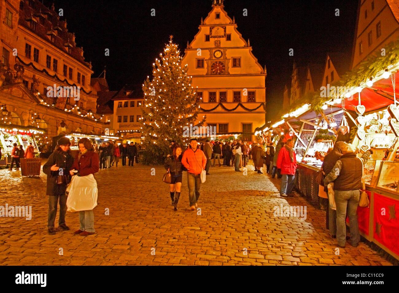 Weihnachtsmarkt Rothenburg Ob Der Tauber Bayern
