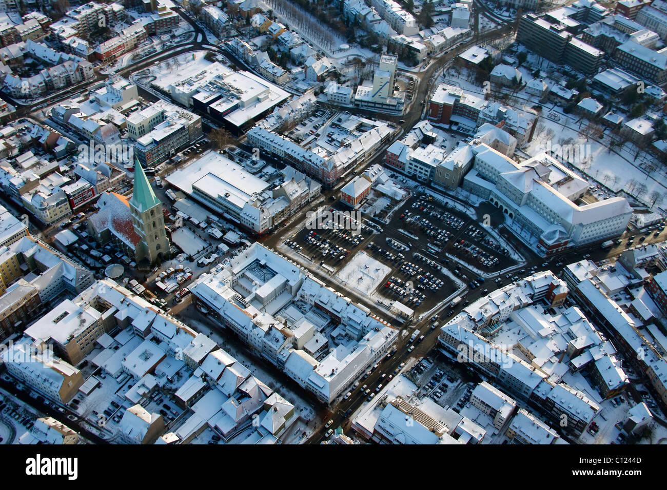 Luftbild, Santa Monica Square, Marien-Hospital, Hamm, Ruhrgebiet, Nordrhein-Westfalen, Deutschland, Europa Stockbild