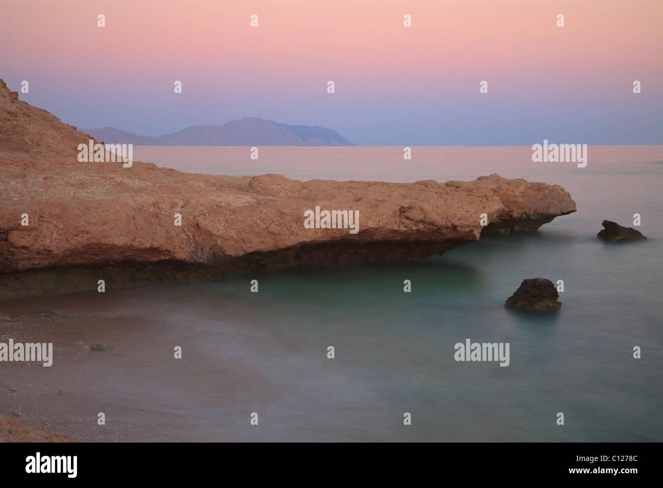 Sonnenuntergang am Roten Meer in Ägypten Stockbild