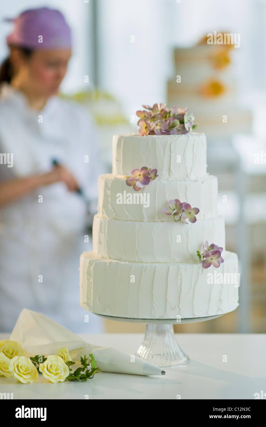 Usa New Jersey Jersey City Hochzeitstorte Pastry Chef Im
