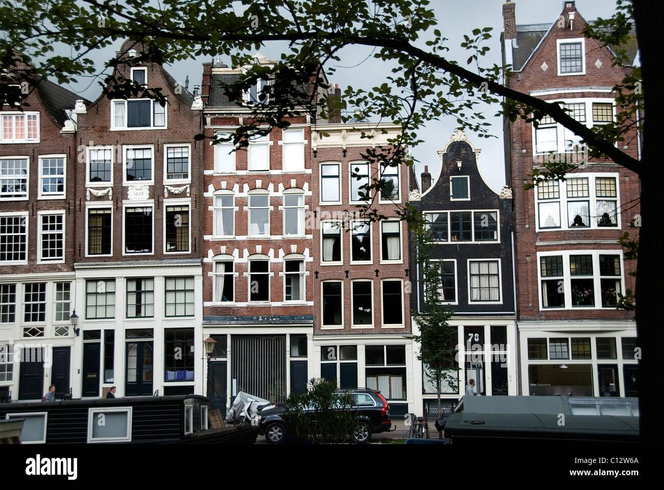 Gebäude außen in Amsterdam, Holland Stockbild