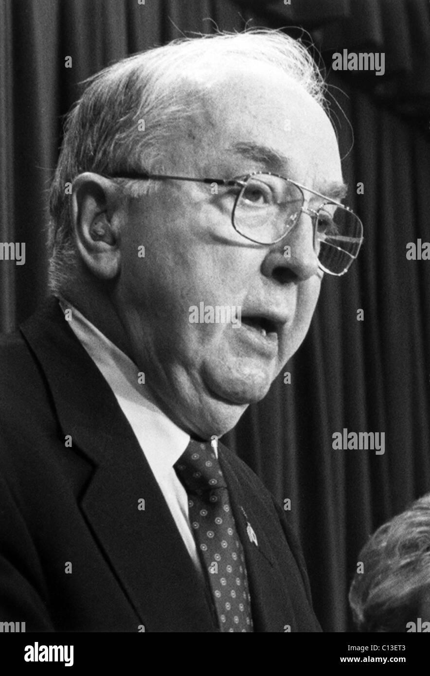 Jesse Helms, Senator (R) North Carolina, der 1990er Jahre Stockbild