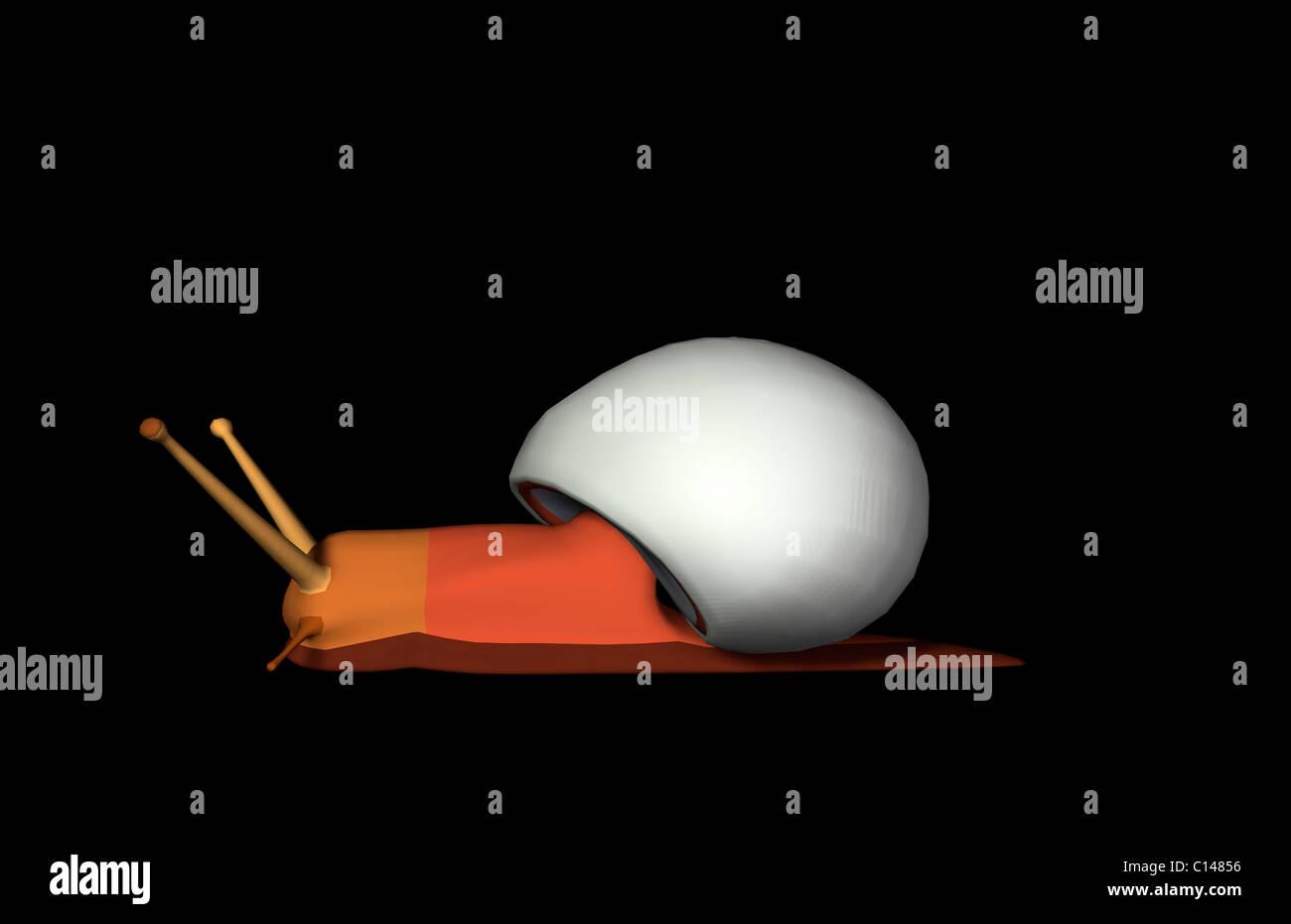 Schnecke-Abbildung Stockbild