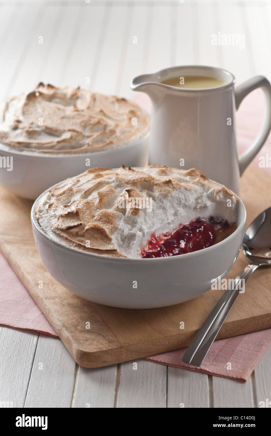 Königin der Pudding traditionelles Dessert UK Stockbild