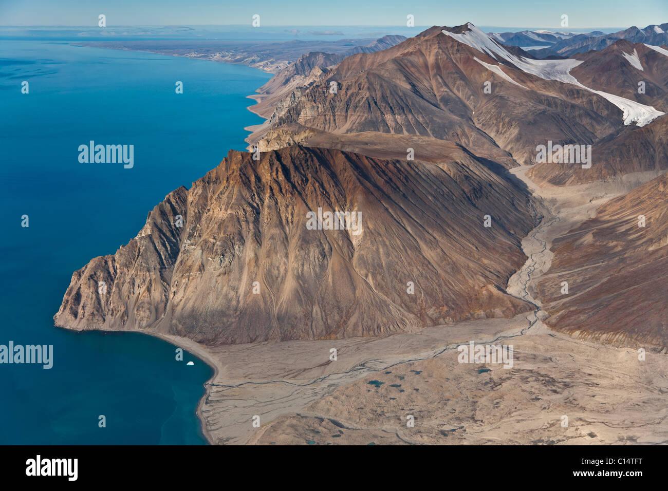 Südliche Küste Bylot Insel, Nunavut, Kanada. Stockbild