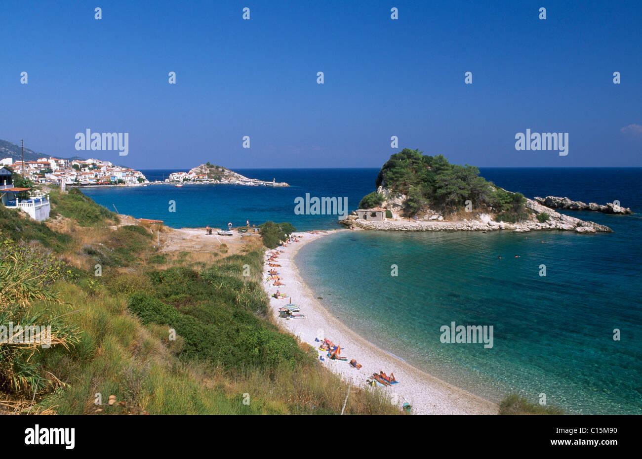 Kokkari Beach, Insel Samos, Griechenland, Europa Stockbild