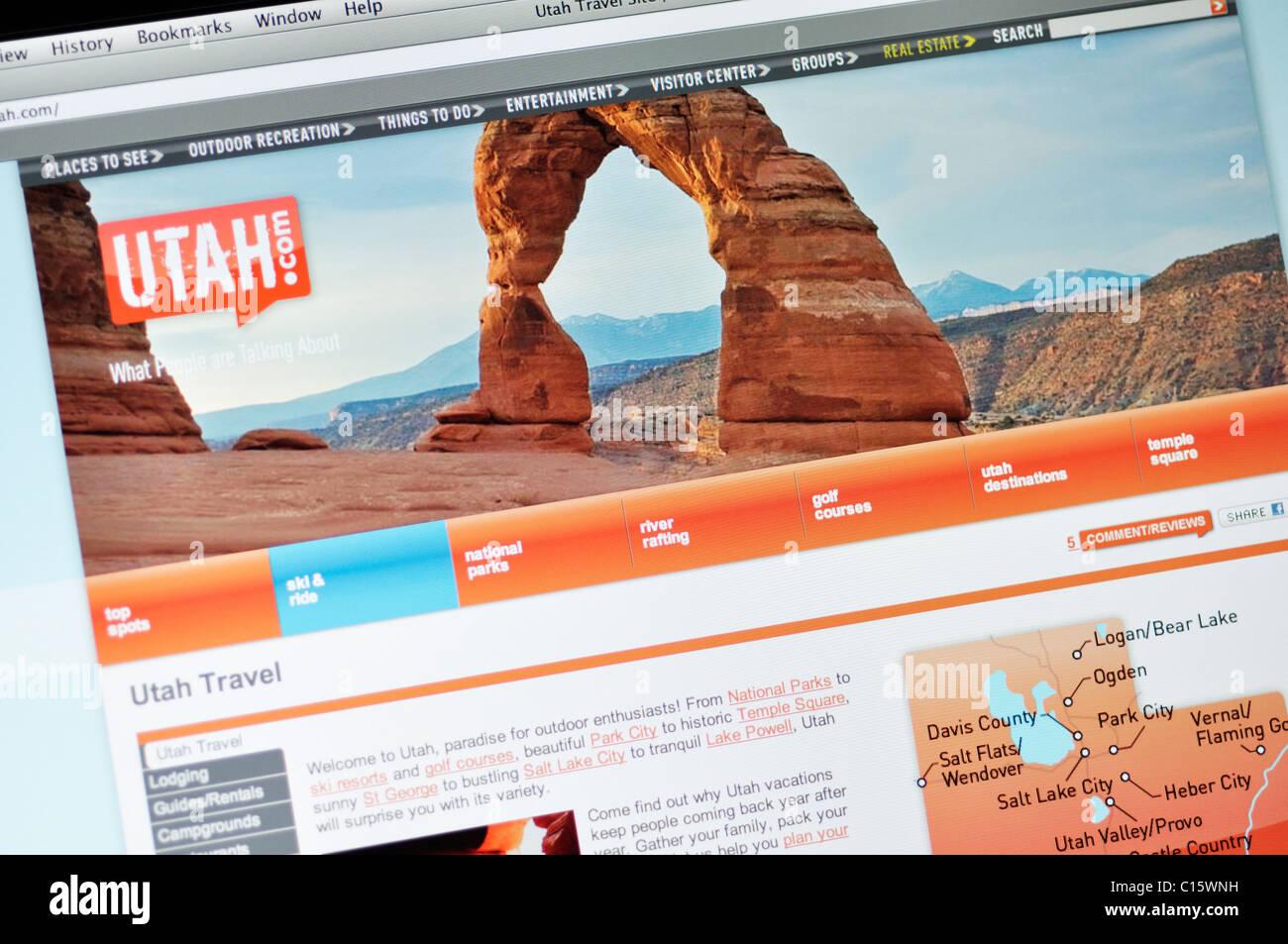 Utah offizielle Tourismus-website Stockbild