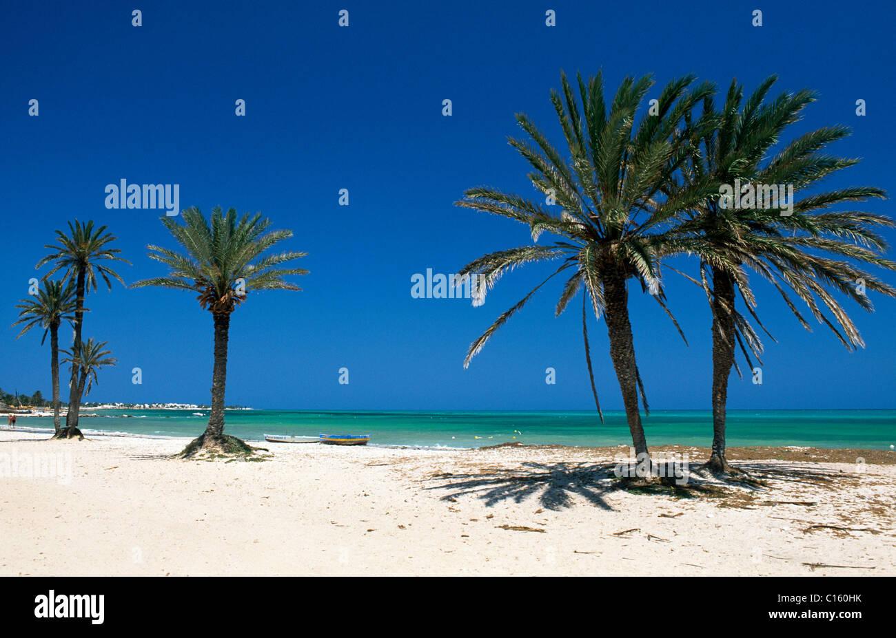 Seguia Strand, Djerba, Tunesien, Afrika Stockbild