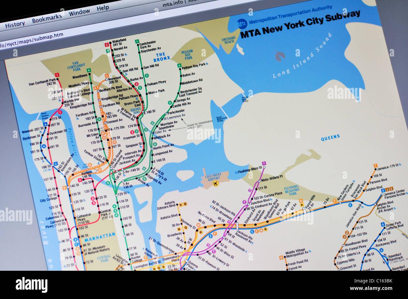 New York Subway Map Stockfotos & New York Subway Map Bilder - Alamy