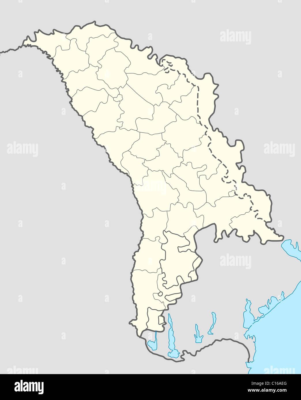 Moldawien Karte.Illustrierte Karte Von Moldawien Stockfoto Bild 35175352 Alamy