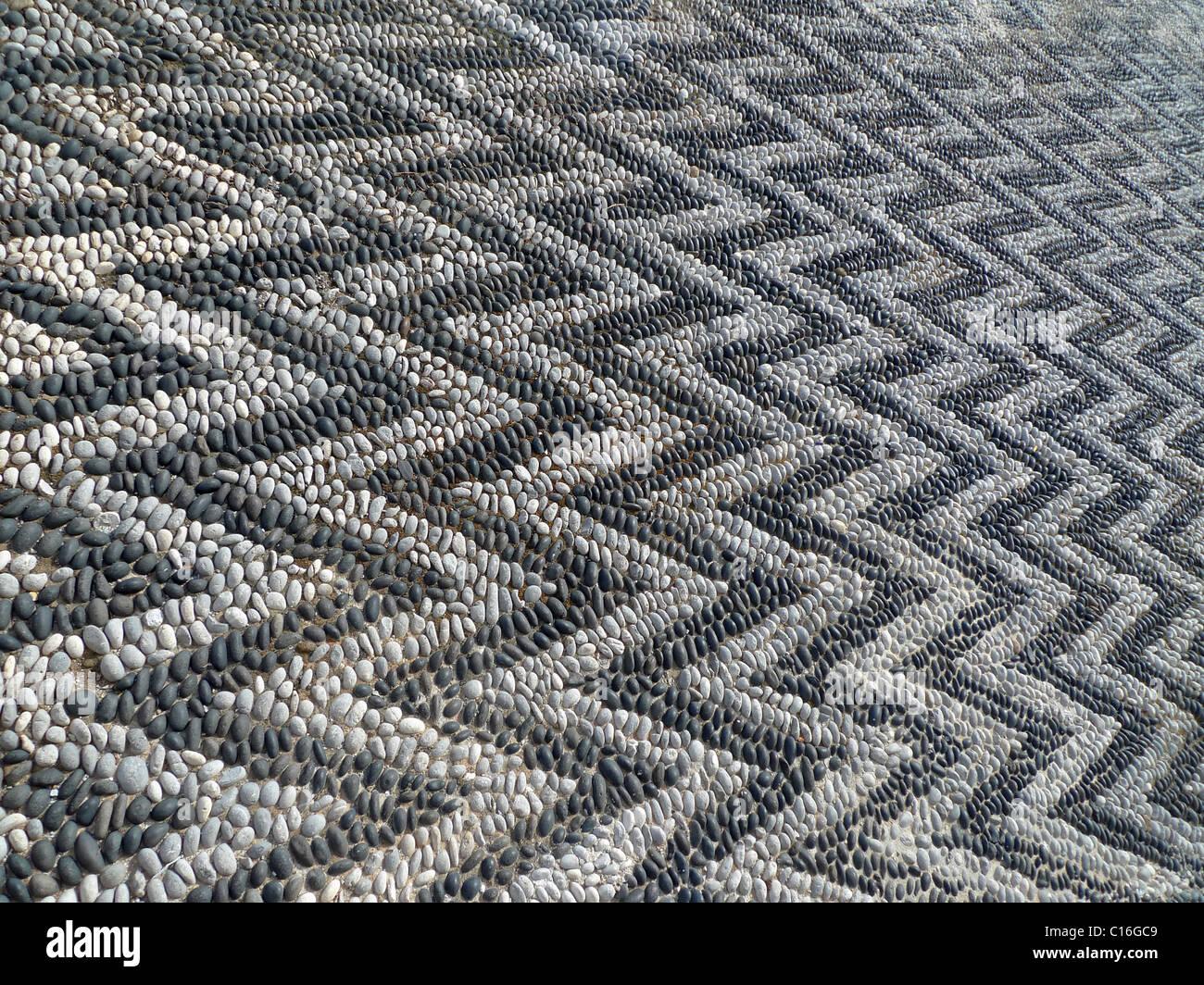 Fußboden Schwarz Weiß ~ Mosaik fußboden zick zack details schwarz weiß stockfoto bild