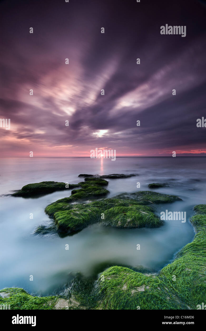 Sonnenaufgang in Walton-on-the-Naze in Essex, England. Stockbild