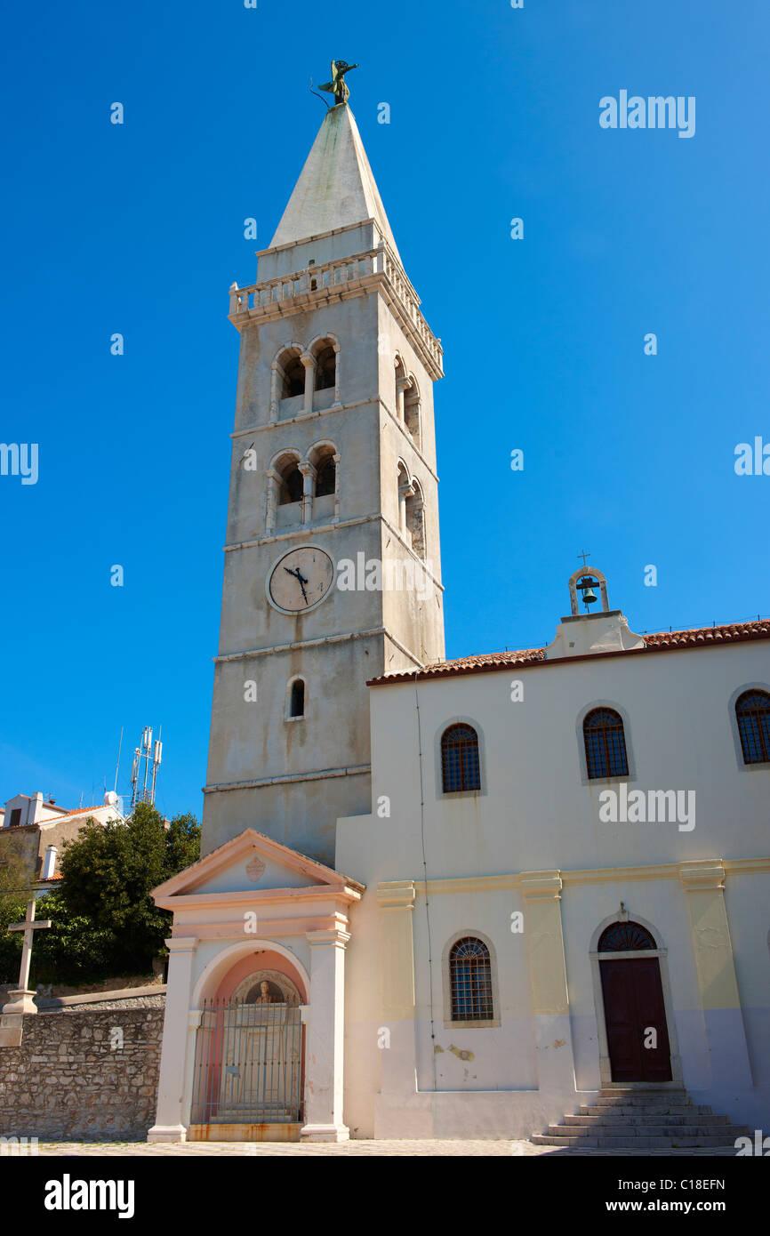 Kathedrale von Mali Lo?inj, Insel Lo?inj Kroatien Stockbild