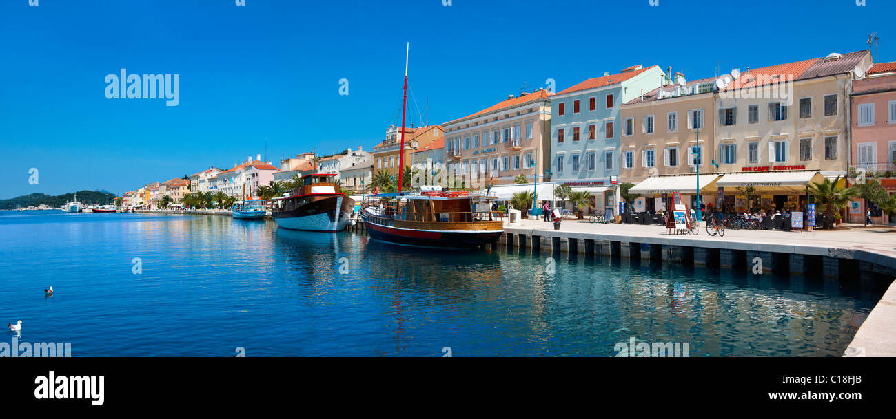 Hafen von Mali Lo?inj, Insel Lo?inj Kroatien Stockbild