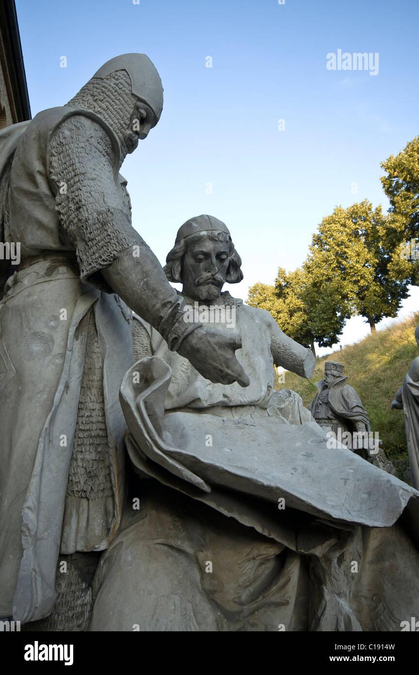 Statuen auf der Zitadelle, Berlin Stockfoto