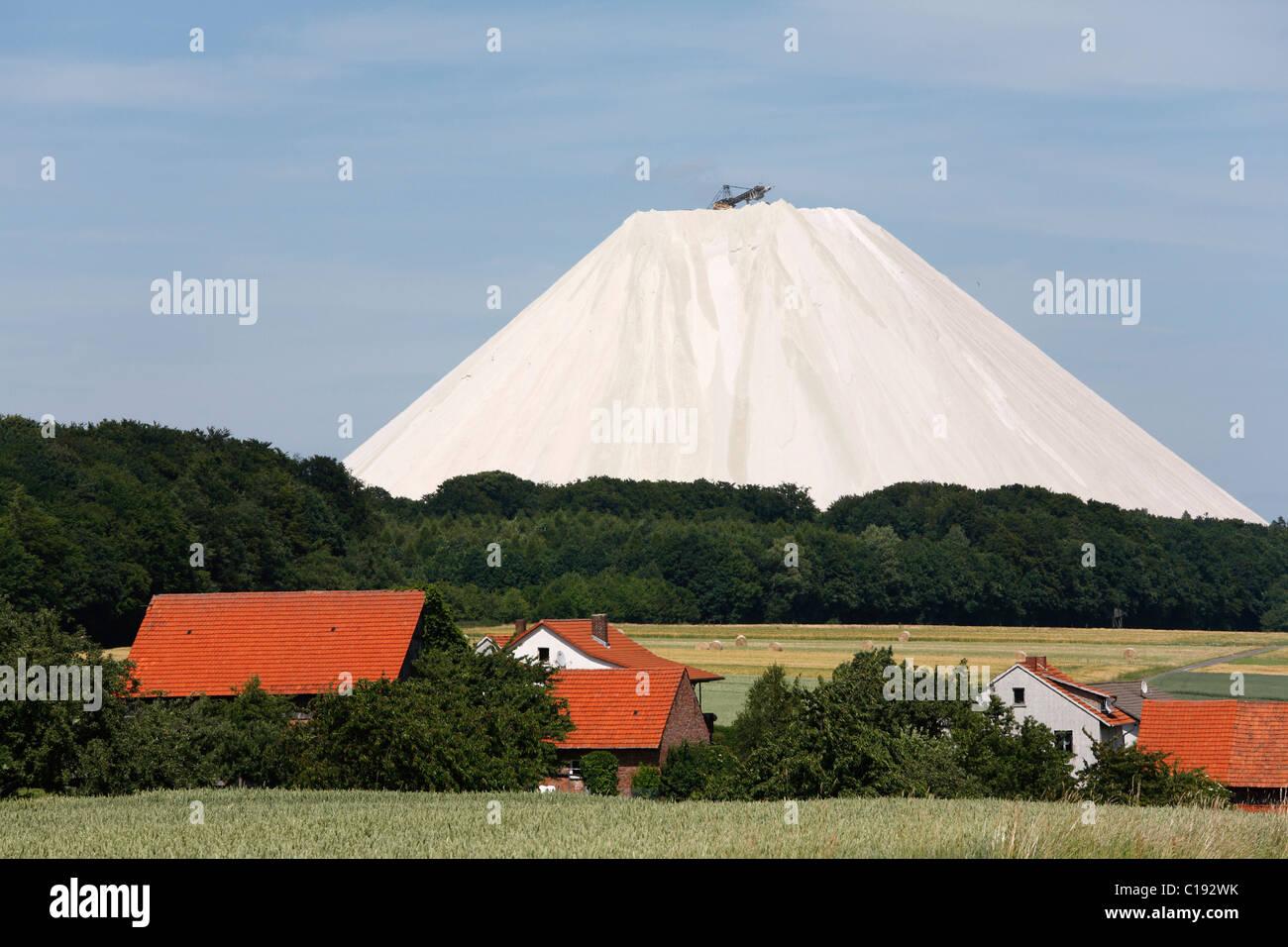 Verderben Sie Haufen aus dem Philipsthal Kali Werke, Rhön, Hessen, Deutschland, Europa Stockbild