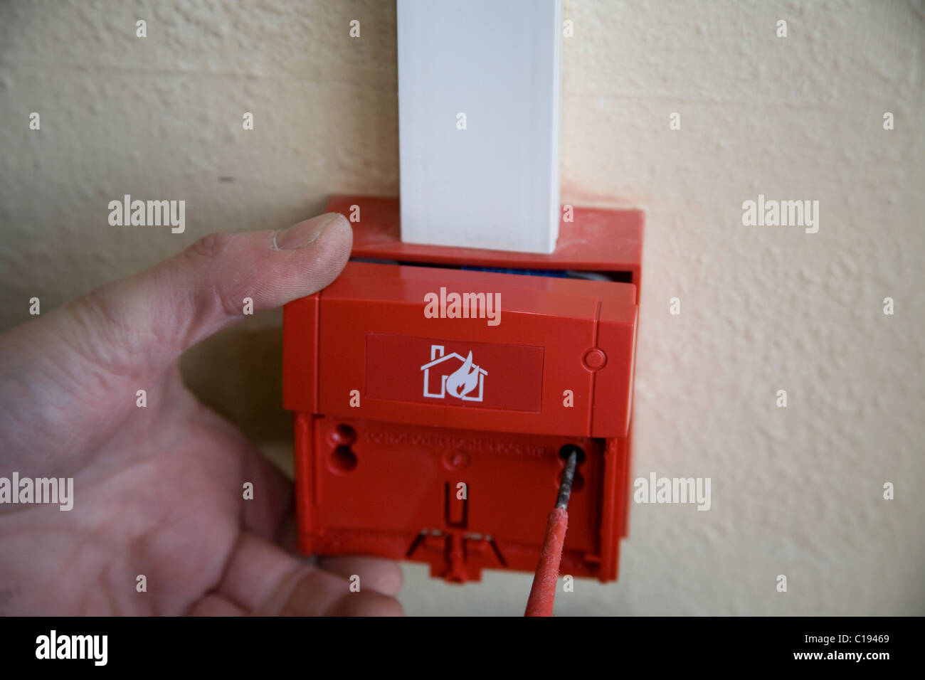 Fire Alarm Break Glass Alarm Stockfotos & Fire Alarm Break Glass ...