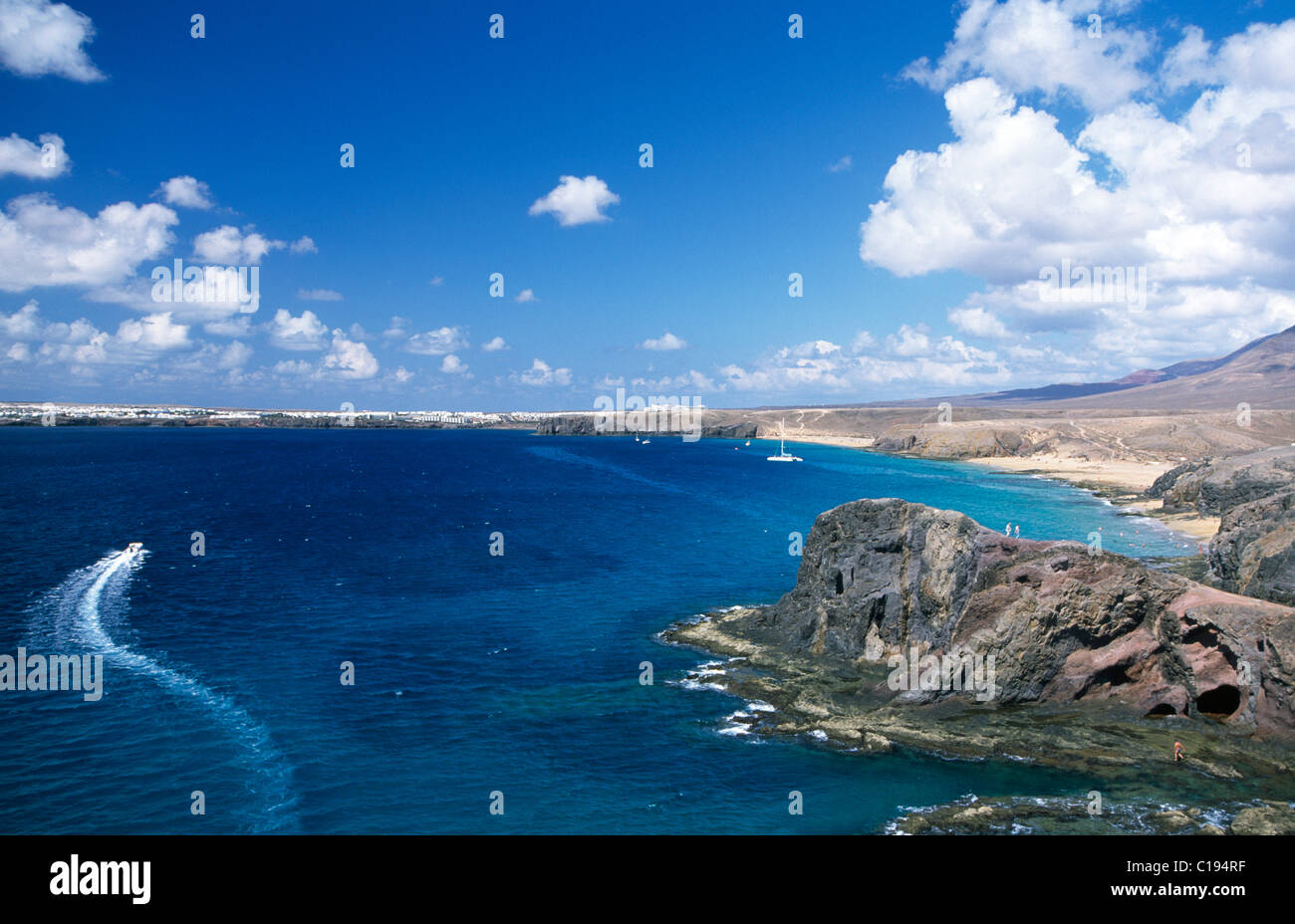 Playa Papagayo, Lanzarote, Kanarische Inseln, Spanien, Europa Stockbild