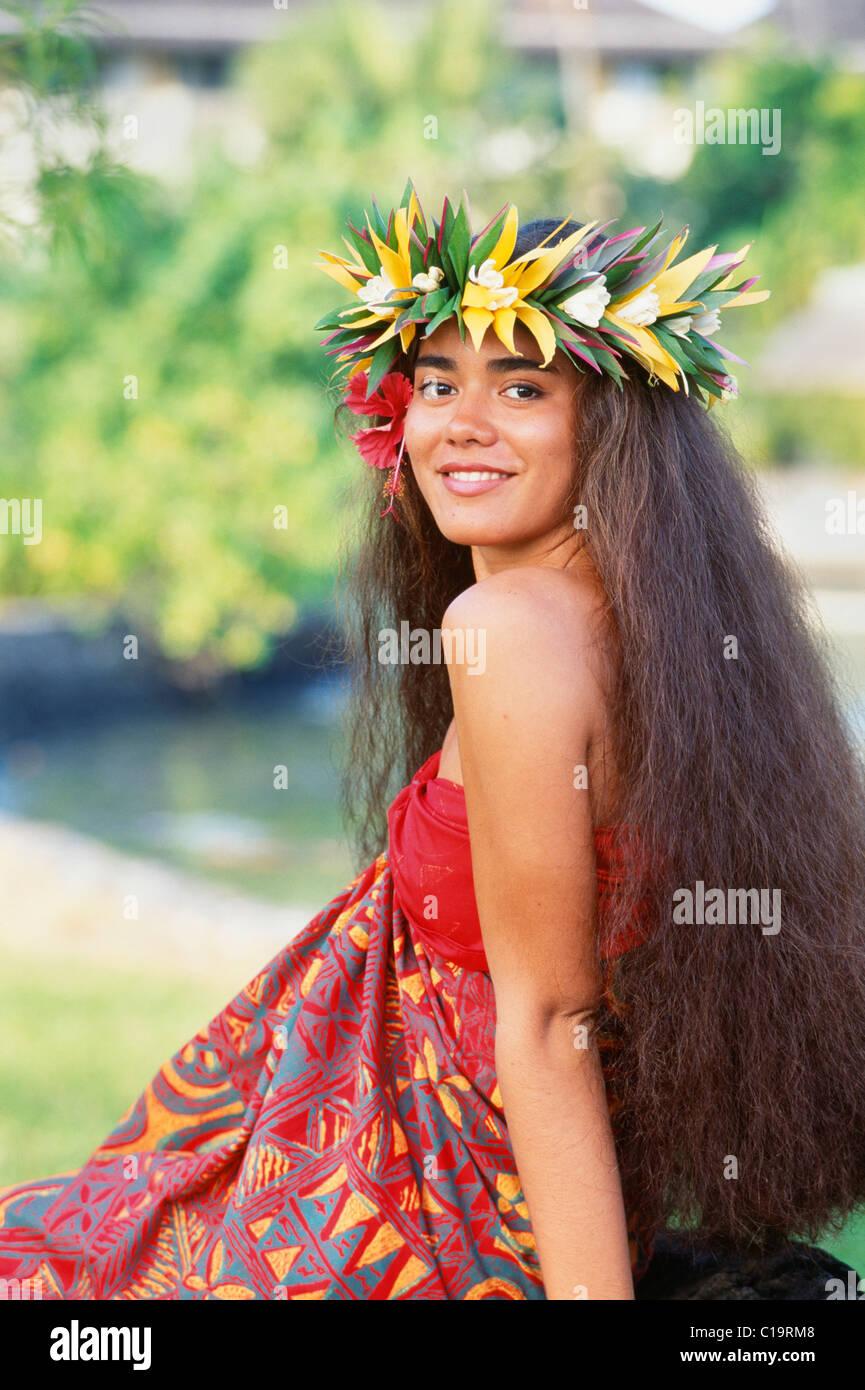 Polynesische Frau Hawaii Stockfoto Bild 35251560 Alamy