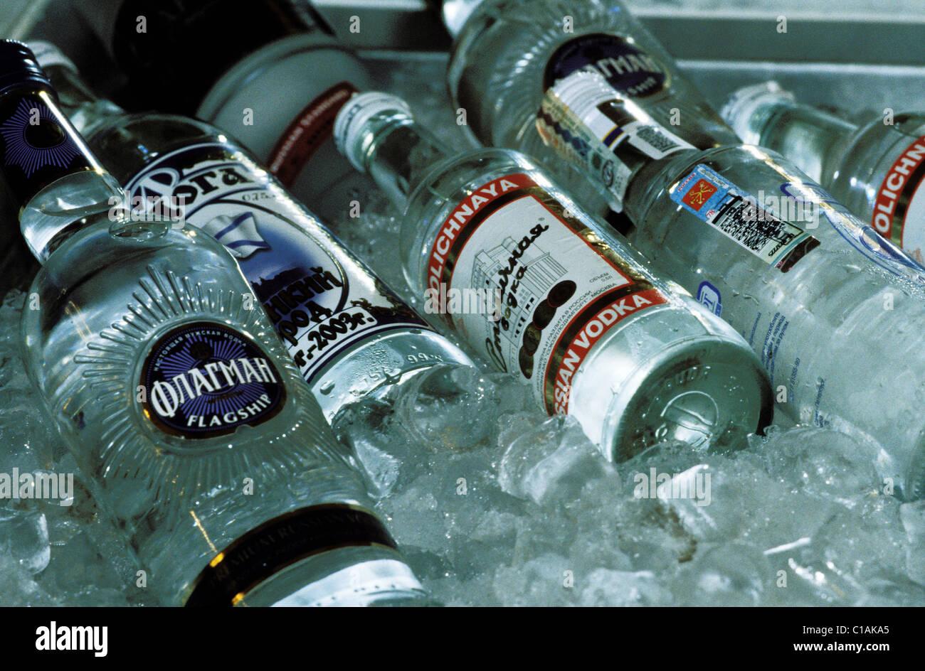 Russland, Sankt Petersburg, Wodka, berühmte russische Getränk im ...