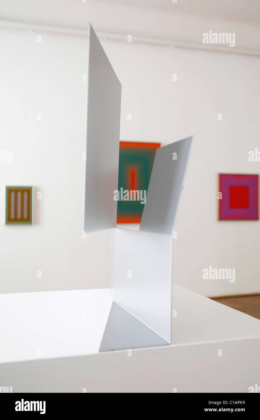Interieur, International Center of Graphic Arts, Ljubljana, Slowenien, Europa Stockbild