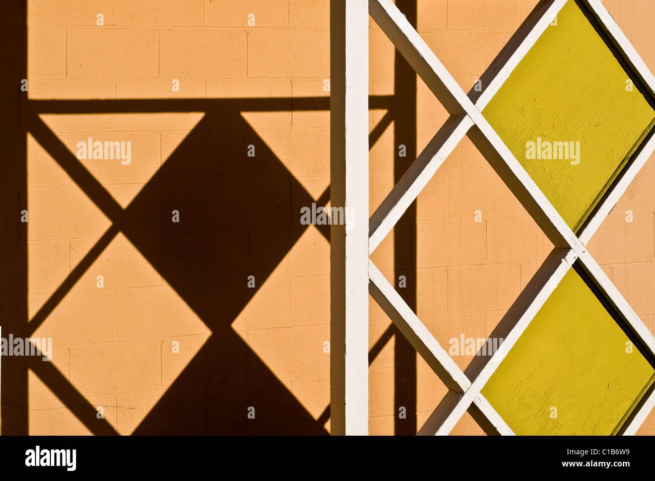 Architektonisches Detail 50er Jahre Motel auf route_66 Galopp New Mexico Stockbild