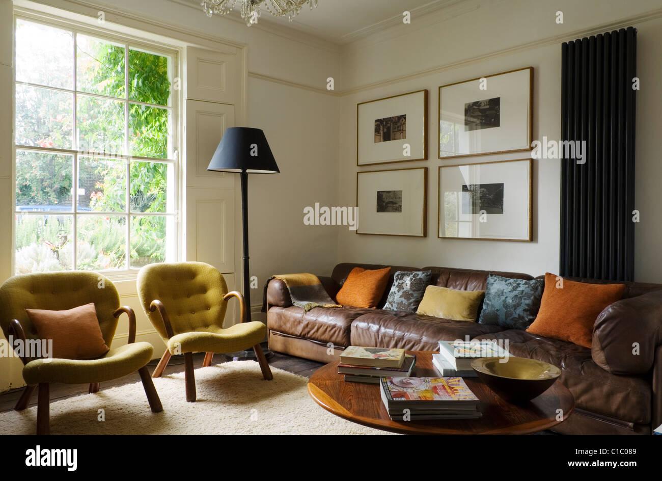 1840er Jahren viktorianischen London Terrasse mit Vintage und ...
