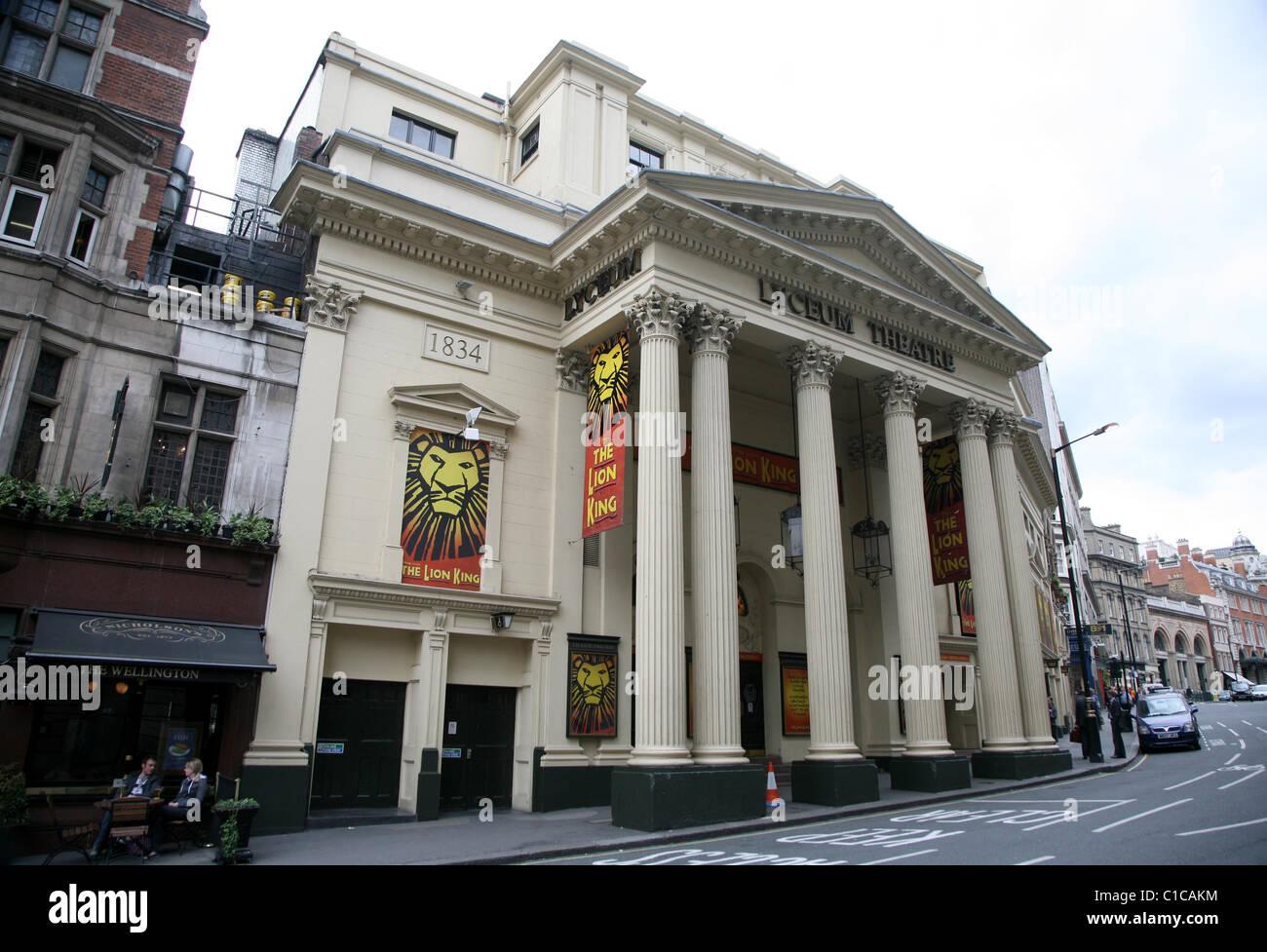 Allgemeine Ansicht Gv des Lyceum Theatre in London, England. Stockbild