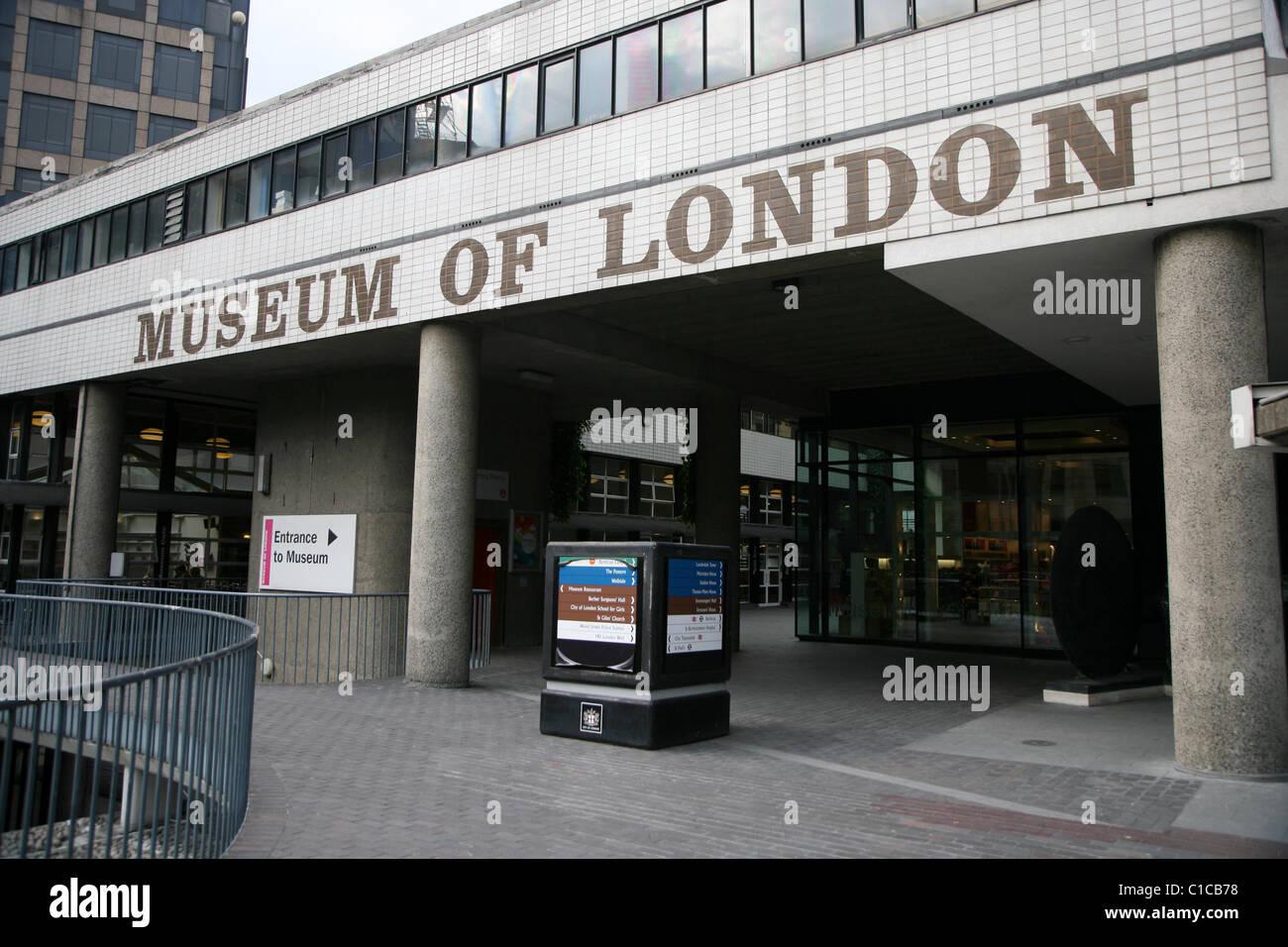 Allgemeine Ansicht Gv der Londoner Museum in London, England. Stockbild