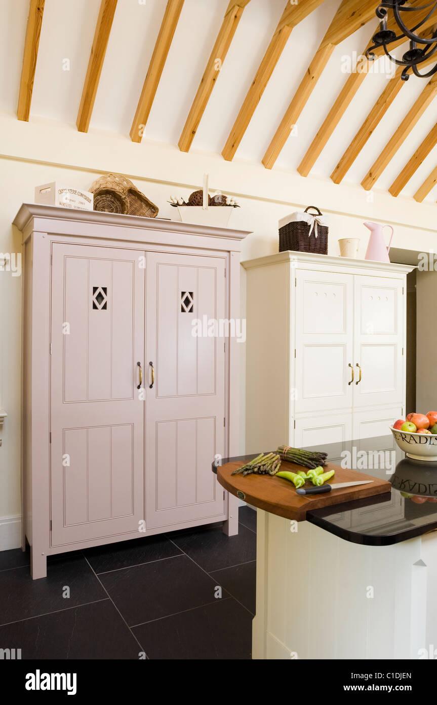 Küche Interieur gestaltet und von Robinson & Cornish Stockfoto, Bild ...