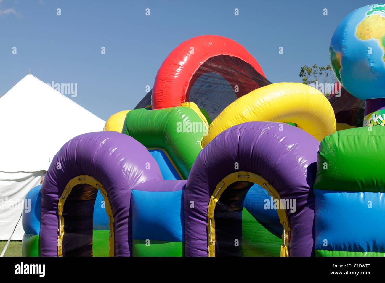 Bouncy Castle aufblasbare Unterhaltung für Kinder. Stockbild
