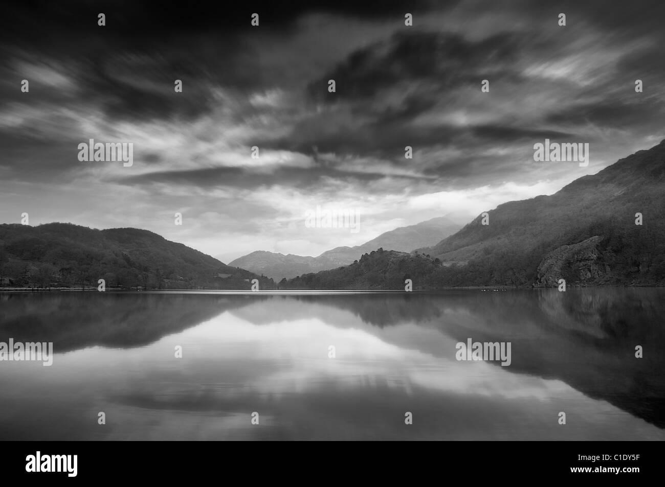 Snowdonia-See Stockbild