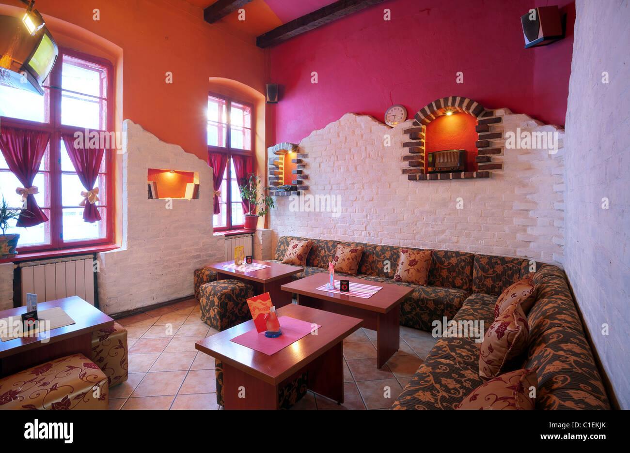 Interior Cafe Mainstream Pop Style Stockfotos & Interior Cafe ...