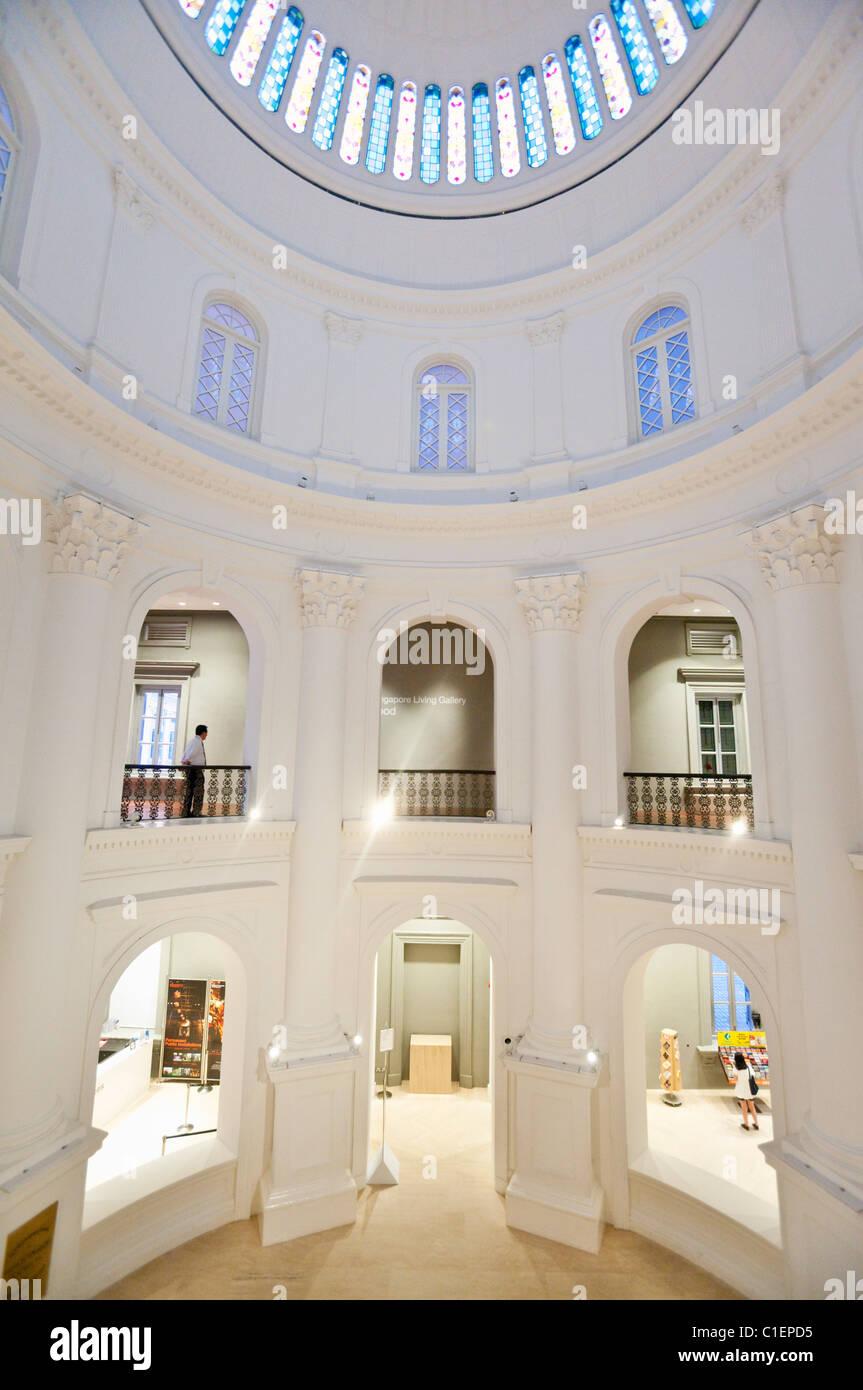 Koloniale Architektur des National Museum of Singapore, Singapur Stockbild