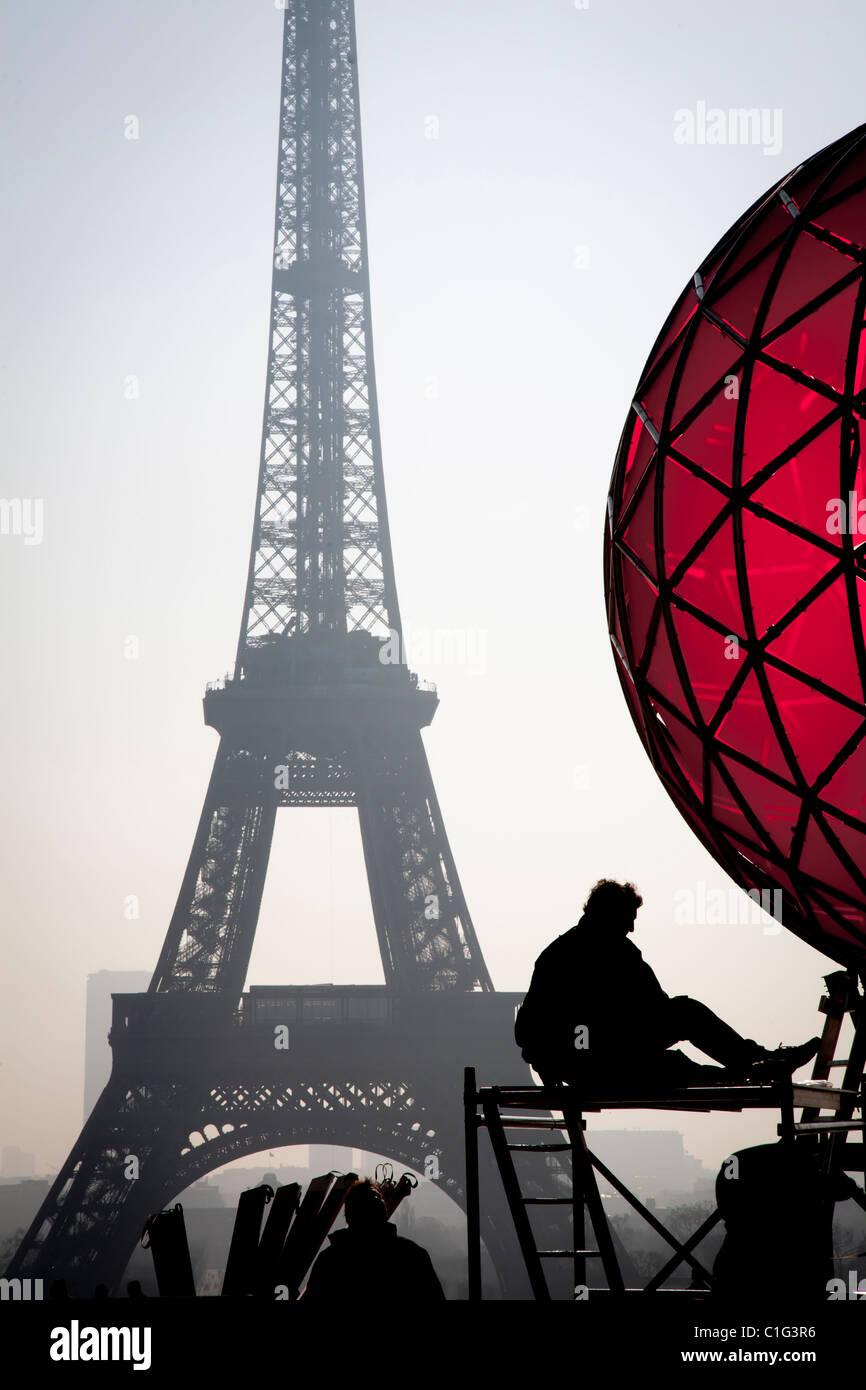 Eiffel-Turm. Paris, Frankreich. Stockbild